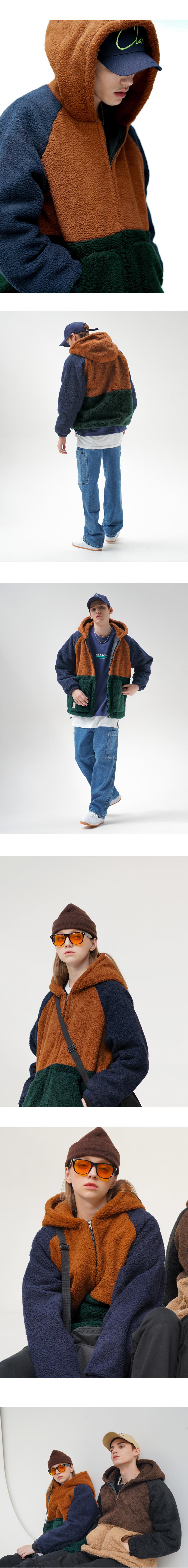 [퍼스텝][기획특가] 양털 플로우 집업후드 점퍼 3종 SMOT4283