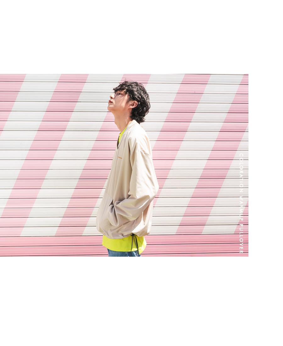 [제멋] 배색 웜업 풀오버 5종 라벤더 YHLT2137