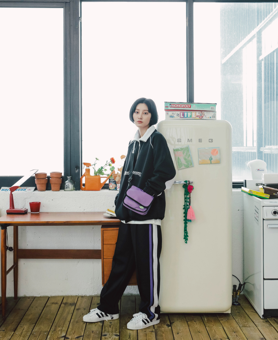 [제멋] 라인 배색 트레이닝 팬츠 3종 카키 YHLP2148