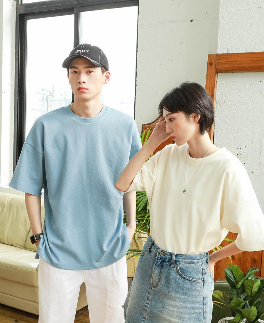 [제멋] 에디 오버핏 반팔티셔츠 화이트 KJST2189