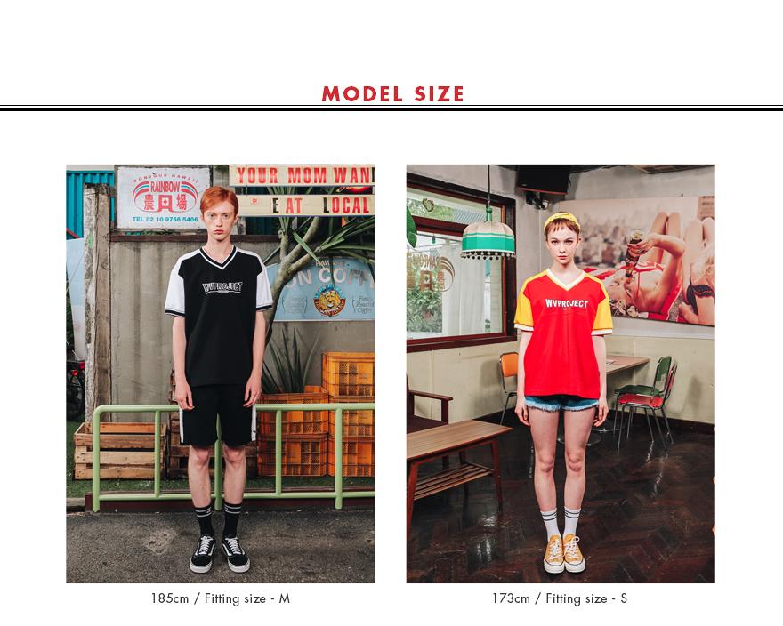 [더블유브이프로젝트] 브이블록 반팔티셔츠 레드 MJST7173