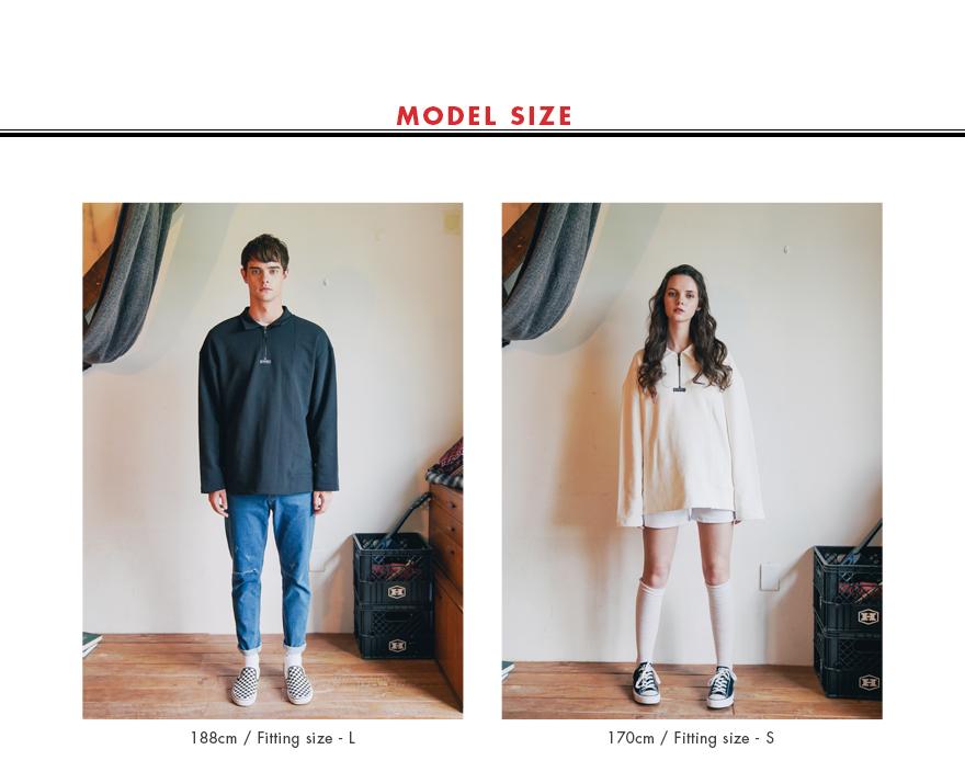 [더블유브이프로젝트] 콤비 하프 지퍼 티셔츠 3종 JJLT7332