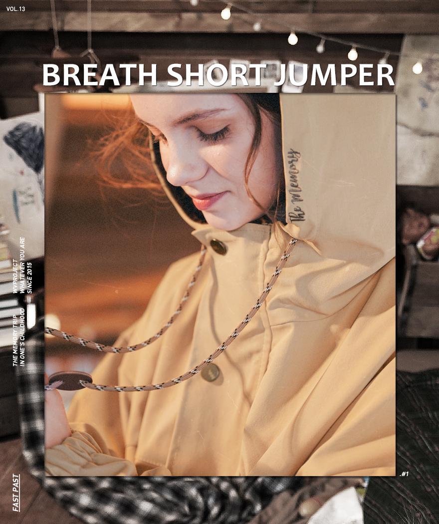 더블유브이프로젝트(WV PROJECT) 브레스 쇼트점퍼 베이지 JJOT7303