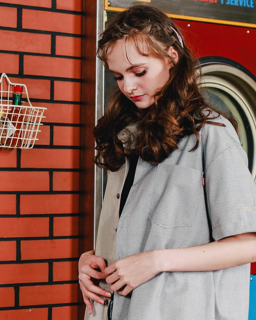 [더블유브이프로젝트] 루더 언발체크 반팔셔츠 2종 KHSS7291