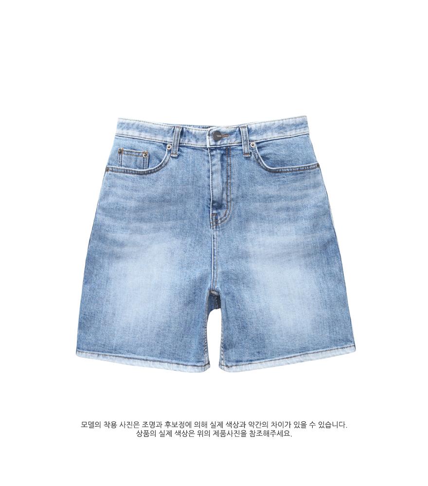 [더블유브이프로젝트] 첸 데님 숏팬츠 블루 MJSP7286