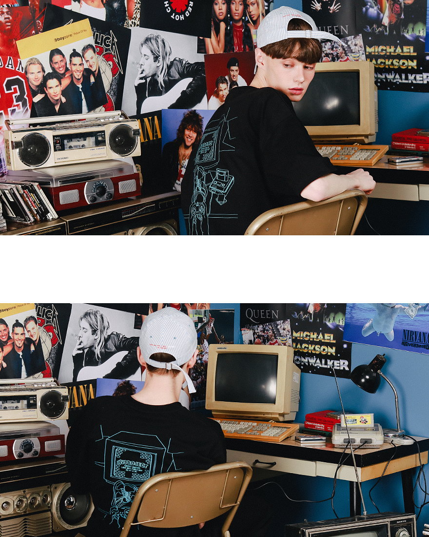 [더블유브이프로젝트] 게이머 반팔티셔츠 5종 MJST7251