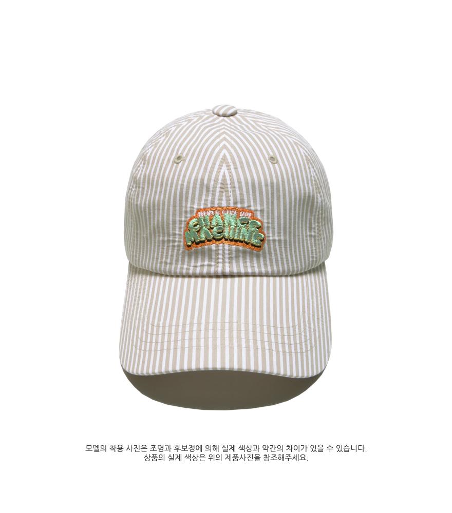 [더블유브이프로젝트] 픽업 스트라이프 볼캡 베이지 SYAC7262