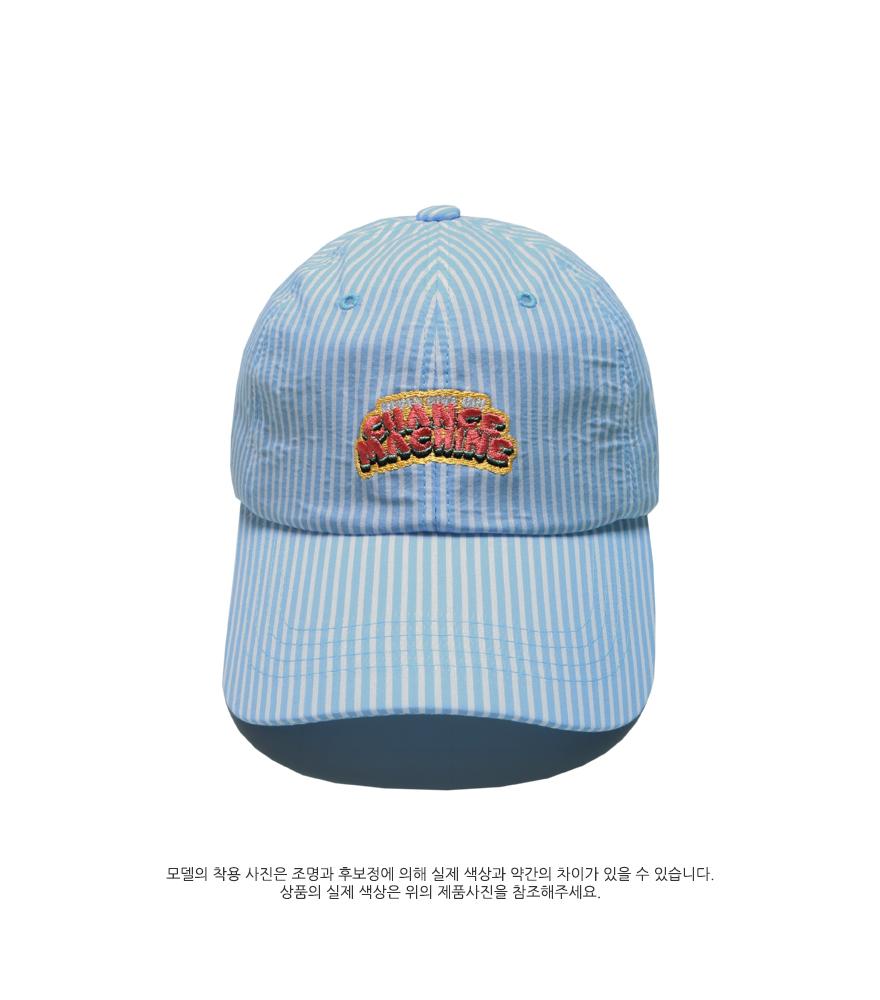 [더블유브이프로젝트] 픽업 스트라이프 볼캡 블루 SYAC7262