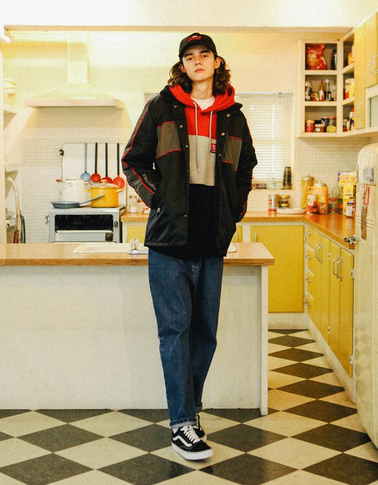 [티떠블유엔] 어셉트후드 자켓 빨강 STOT3072