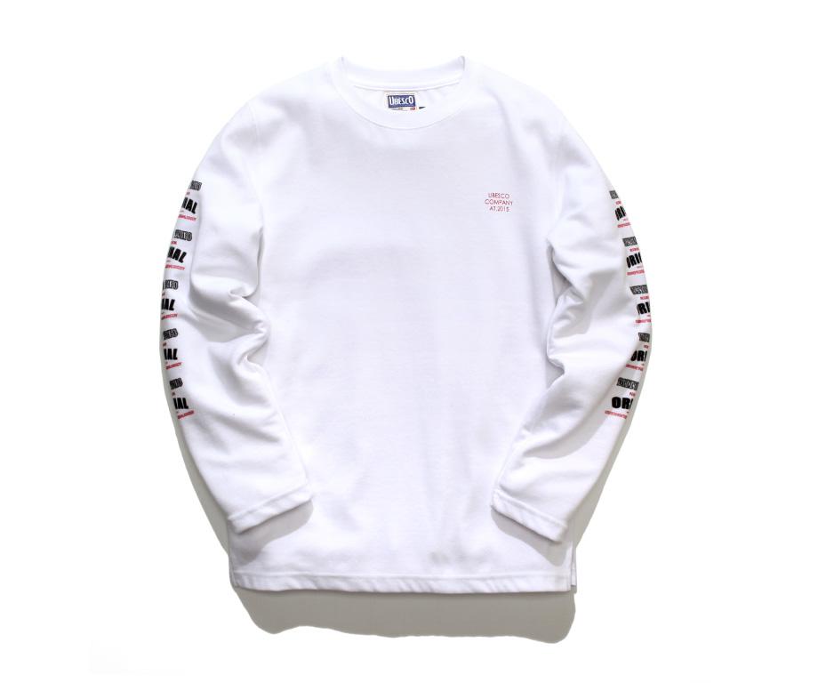 유베스코(UBESCO) 더블타투 긴팔 흰색 MSLT8028