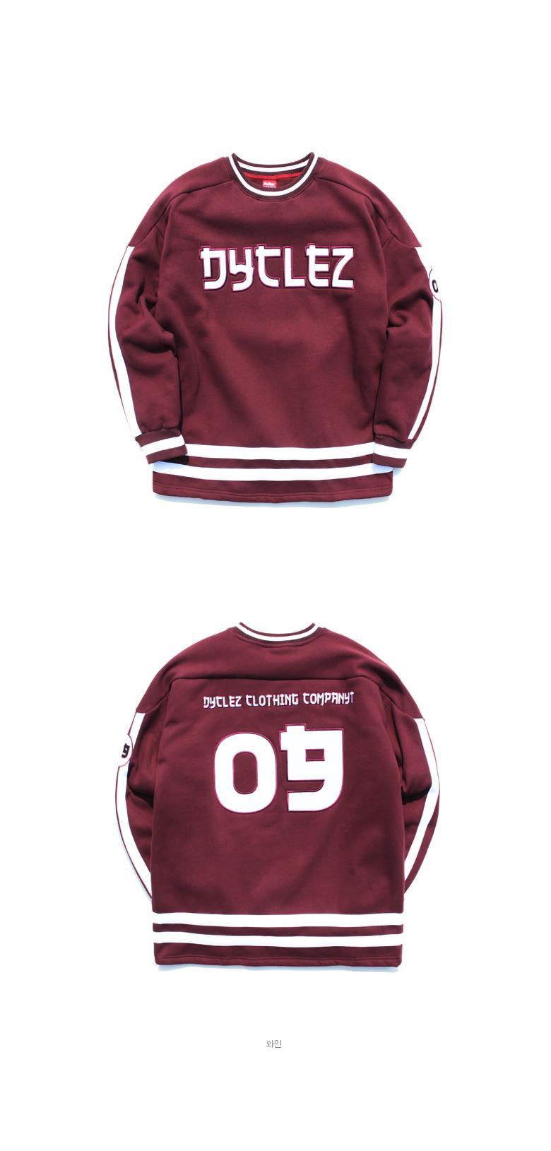 [다이클레즈] 오버라인 티셔츠 와인 CHLT5045
