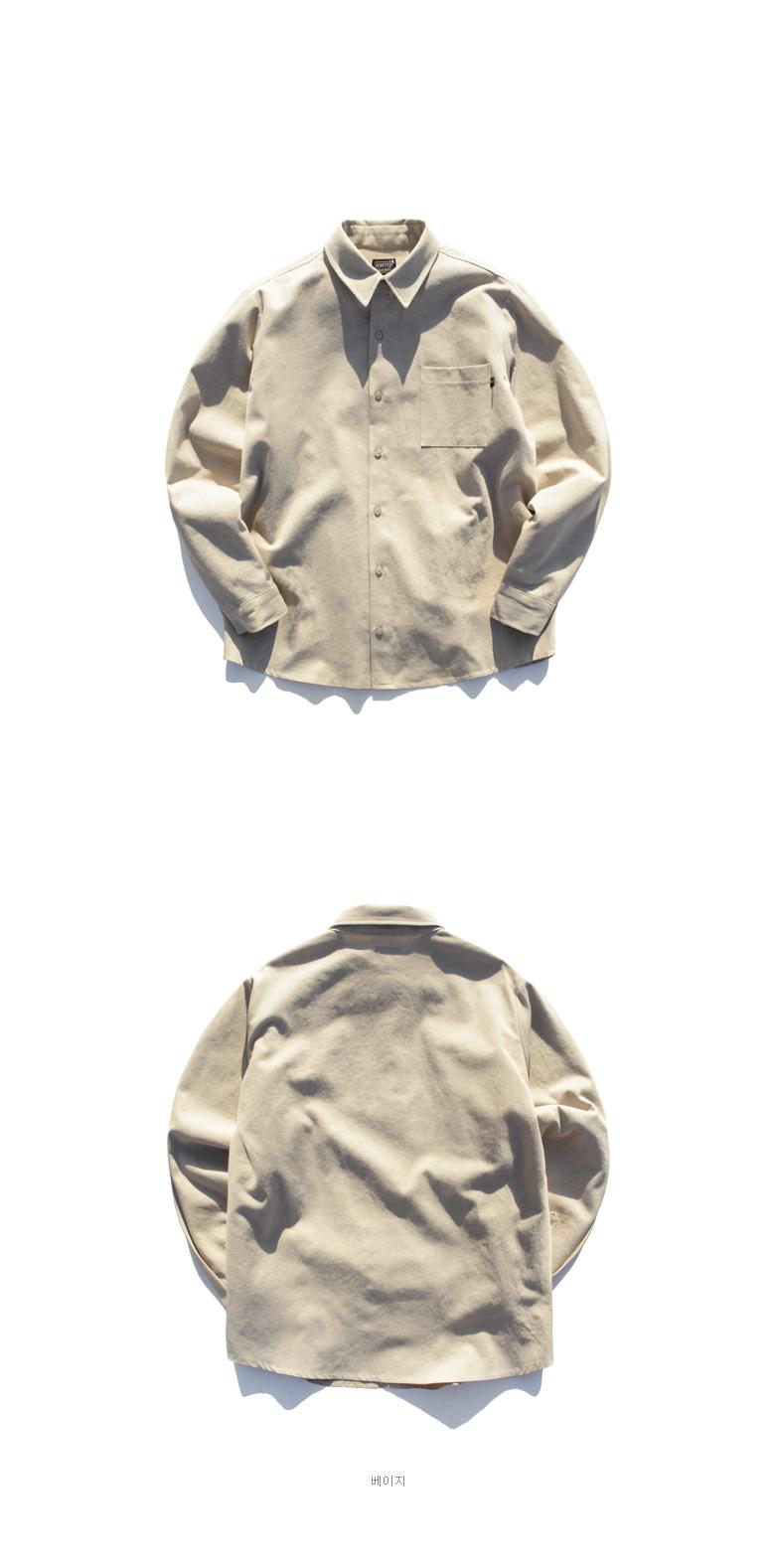 퍼스텝(PERSTEP) [기획특가] 피그먼트 루즈핏 셔츠 검정 SMLS4058