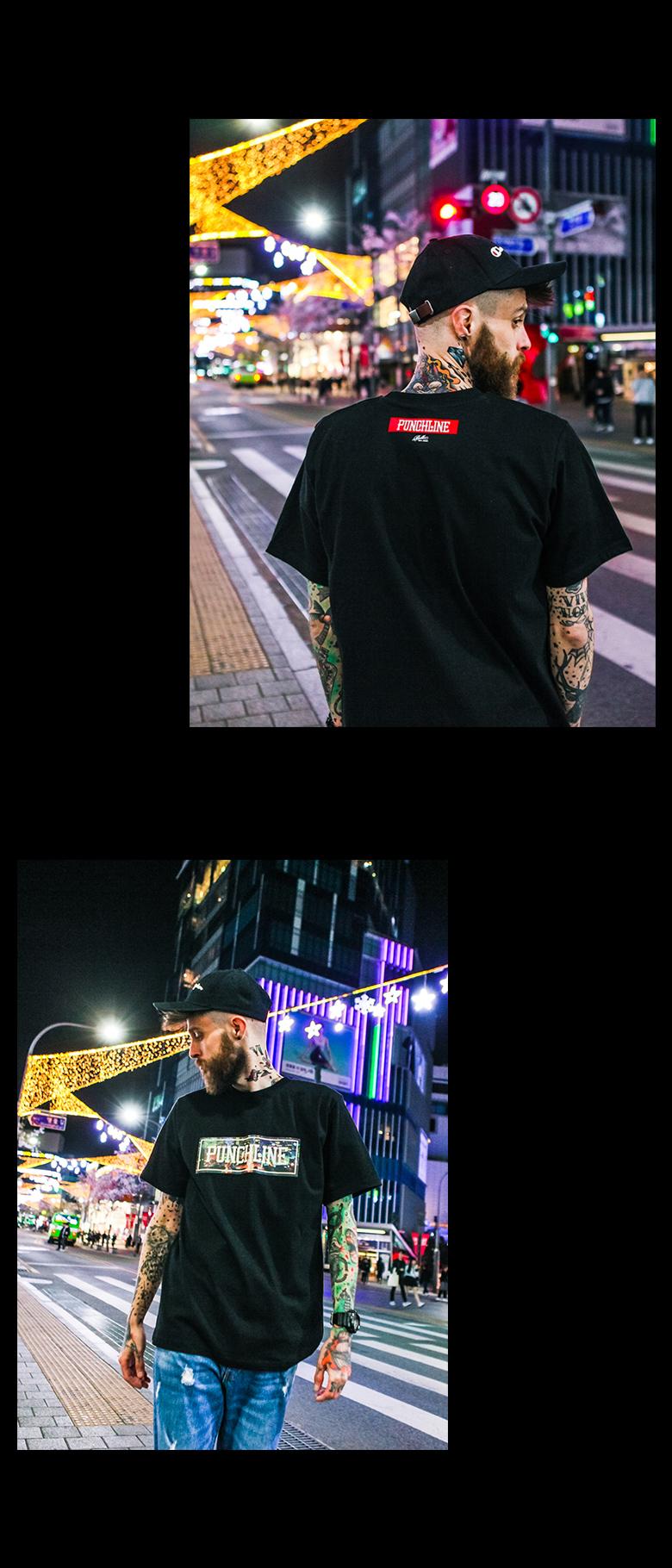 [펀치라인] 도시생활 반팔 2종 KHST0384