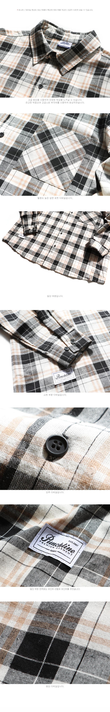 펀치라인(PUNCHLINE) 마일드 셔츠 검정 KHLS6083