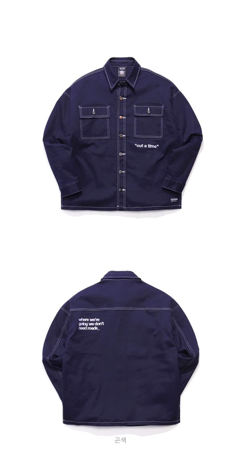 [티떠블유엔] 스트롱라인 자켓셔츠 4종 STLS3128