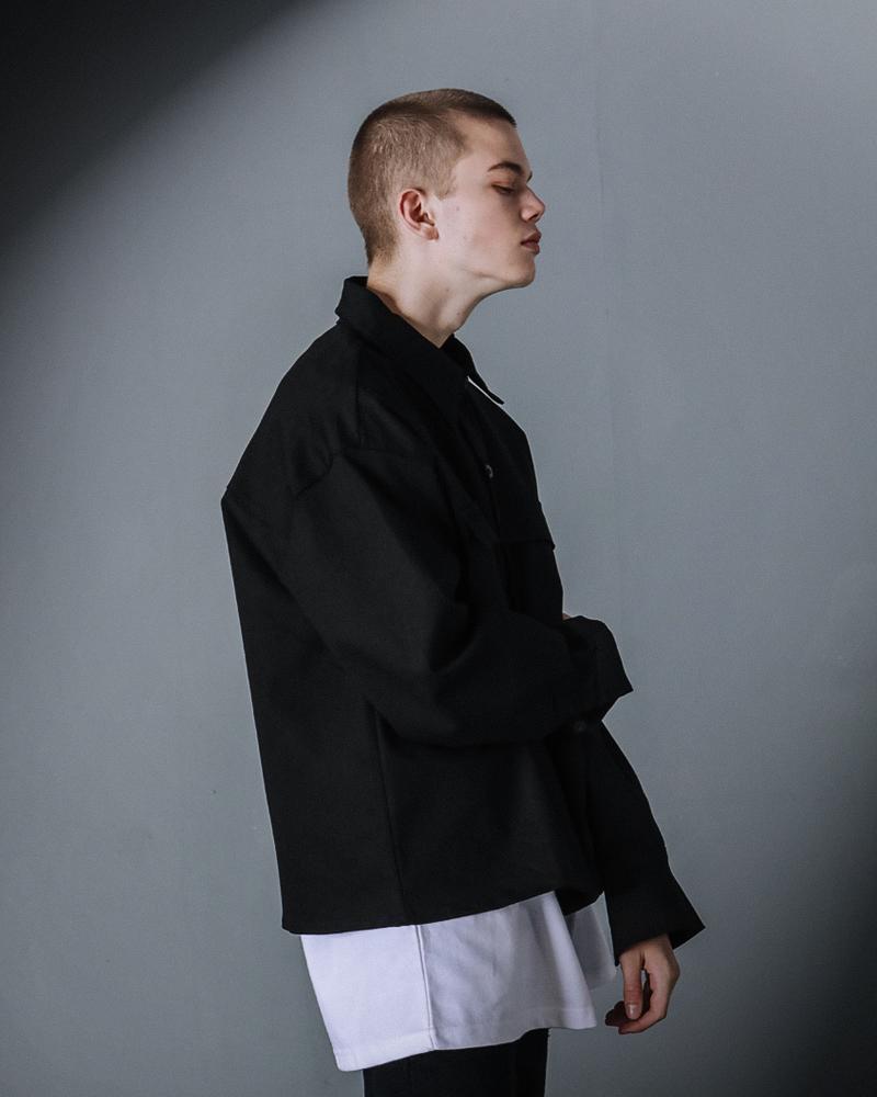 [언더베이스] 크롭 루즈핏 셔츠 화이트 NJLS9004