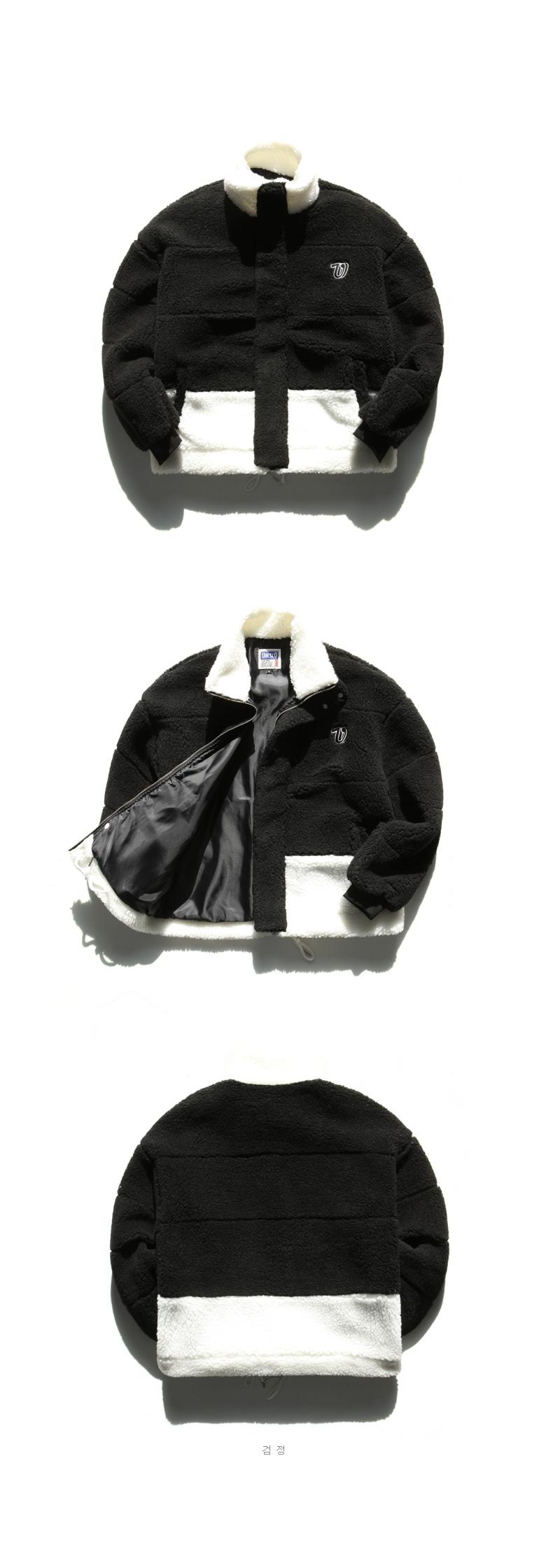 유베스코(UBESCO) 리드미컬 양털 자켓 검정 JUOT8040