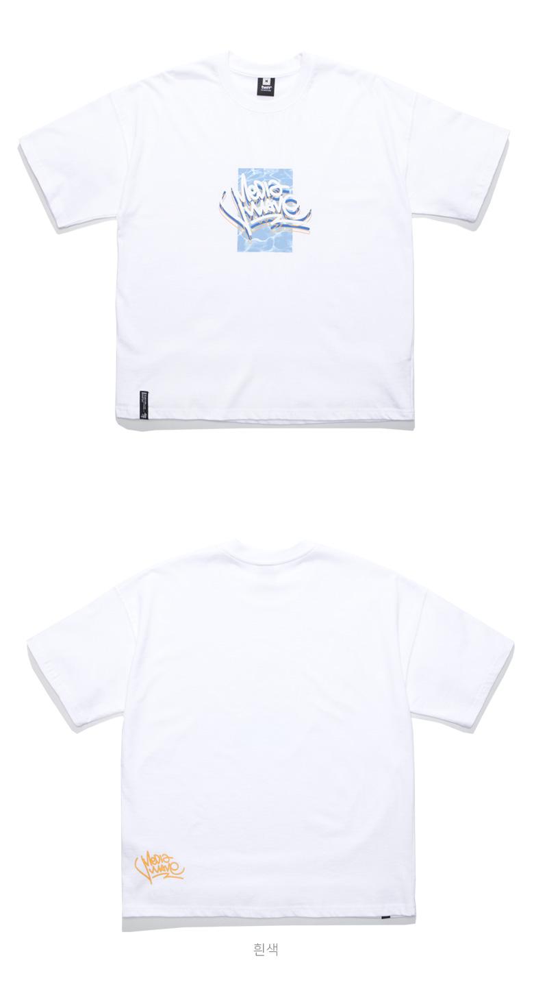 [티떠블유엔] 블루웨이브 반팔 흰색 STST3203