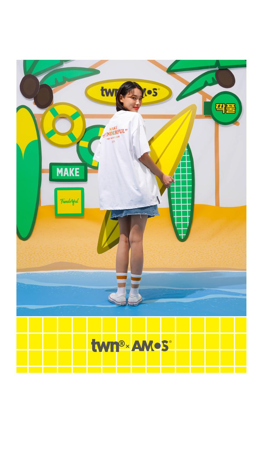 티떠블유엔(TWN) 콘티풀 반팔 화이트 LMST3346