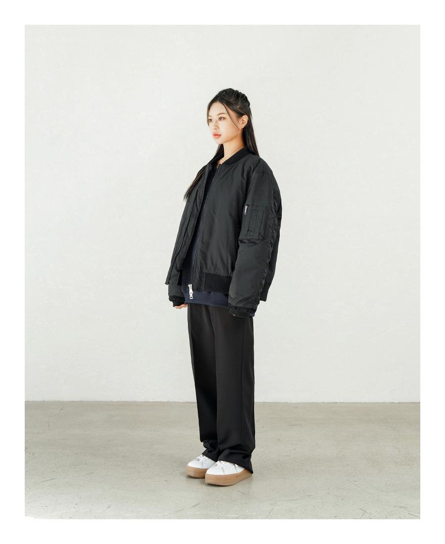 [11/13 예약발송][제멋] 카디 오버핏 MA-1 자켓 블랙 YHJK2319