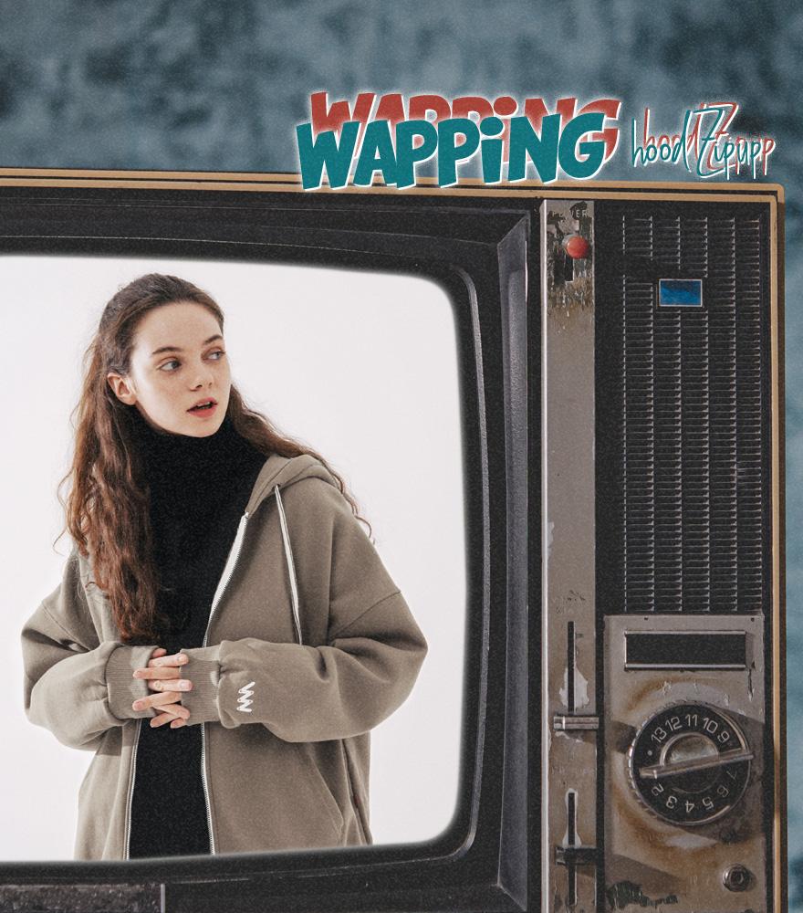 더블유브이프로젝트(WV PROJECT) 와핑 후드집업 코코아 JJOT7203