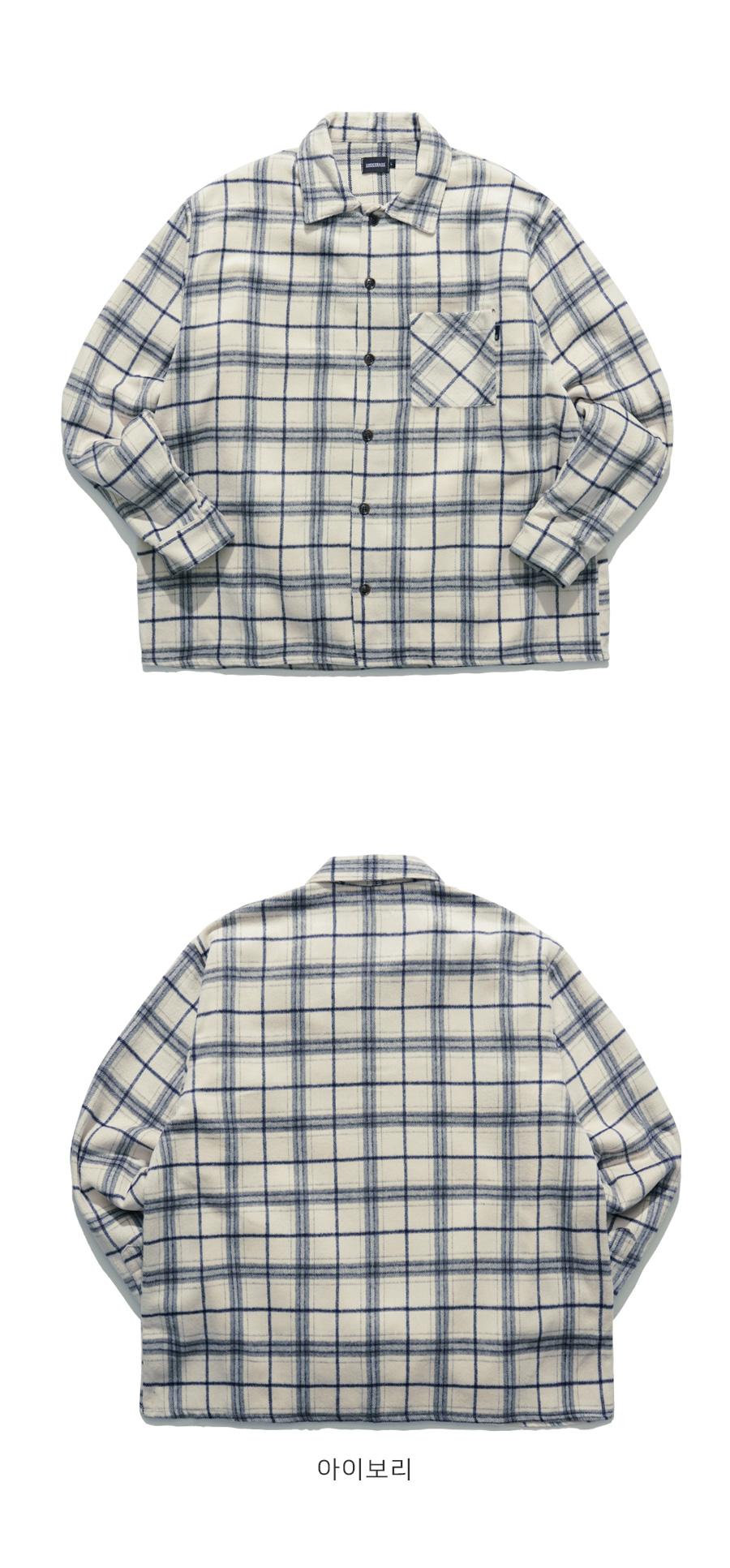 [언더베이스] 구피체크 셔츠 JKLS9071